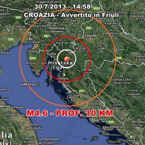 Terremoto Croazia, avvertito anche in Friuli Venezia Giulia