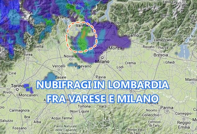 Maltempo Lombardia, Varese: forti nubifragi - 8 Luglio 2013