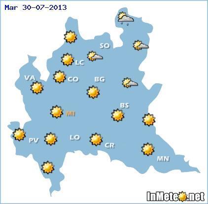 Lombardia: nelle prossime ore maltempo anche sulla regione Lombardia, ma durerà poco.