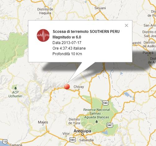 Terremoto Peru' Oggi