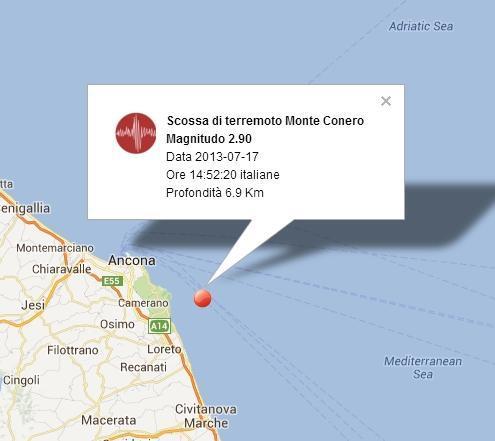 Terremoto oggi Marche, scossa avvertita ad Ancona - 17 Luglio 2013