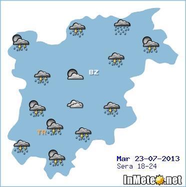 Trentino Alto Adige: instabilità attesa anche in data odierna