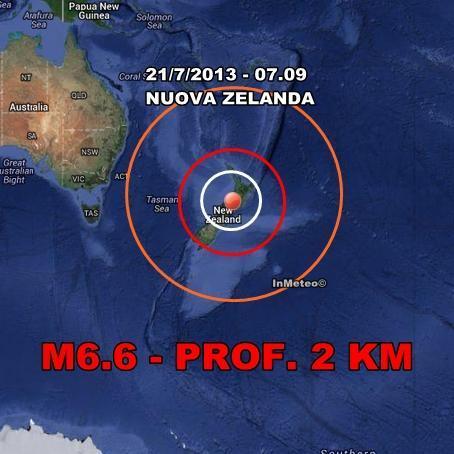 Terremoto Nuova Zelanda : Violento sisma avvertito
