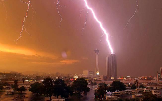 Fulmini su Las Vegas