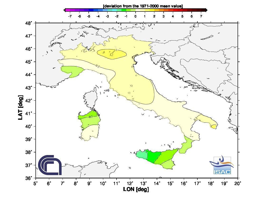 Clima e meteo CNR, news: temperature e precipitazioni di Giugno 2013. Anomalie termiche Giugno 2013.
