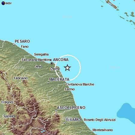 Ingv: terremoto Marche - riepilogo