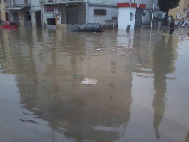 Benevento colpita duramente dai temporali - Fonte : http://www.tvsette.net