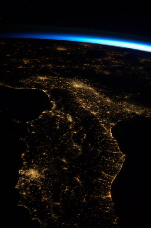 Italia dallo Spazio - Foto di Luca Parmitano