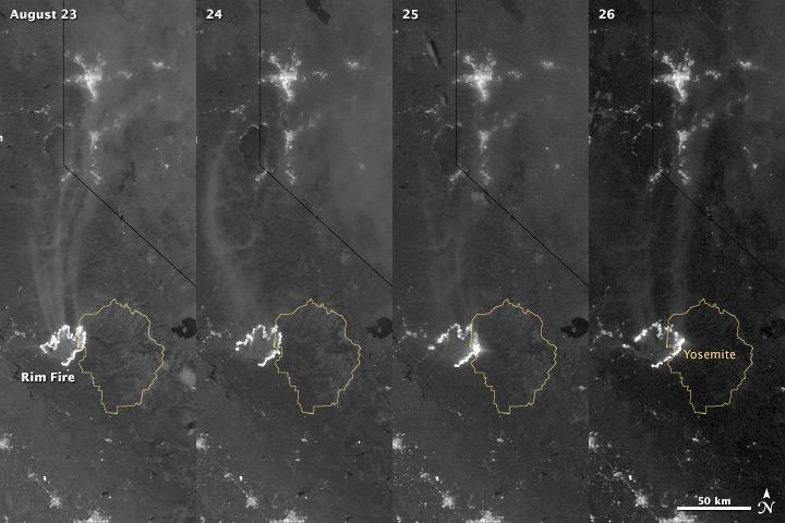 Incendio California: foto satellitari della NASA