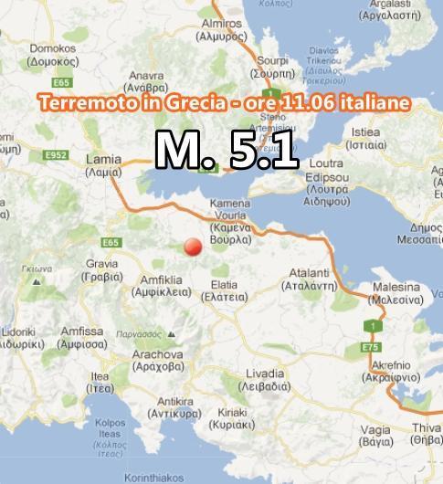Terremoto Grecia oggi: forte scossa magnitudo 5.1, paura fino ad Atene.