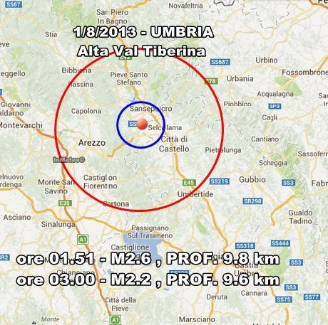 INGV Terremoto Oggi : Monitoraggio 1 Agosto 2013