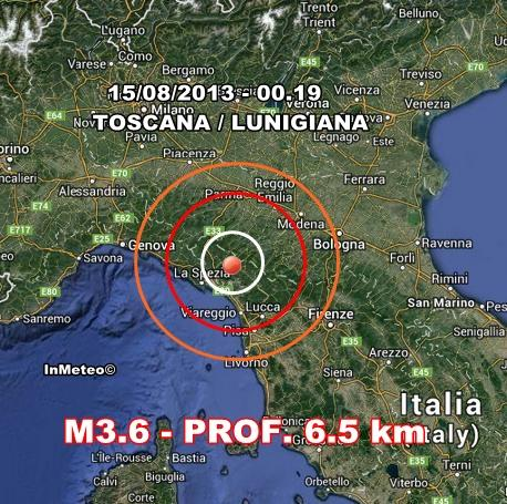 INGV Terremoto Oggi : Monitoraggio 15 Agosto