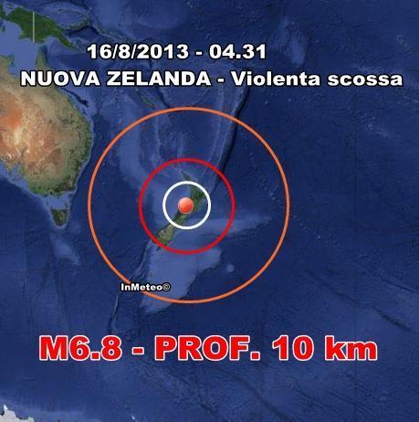 Terremoto Nuova Zelanda : Forte sisma in nottata