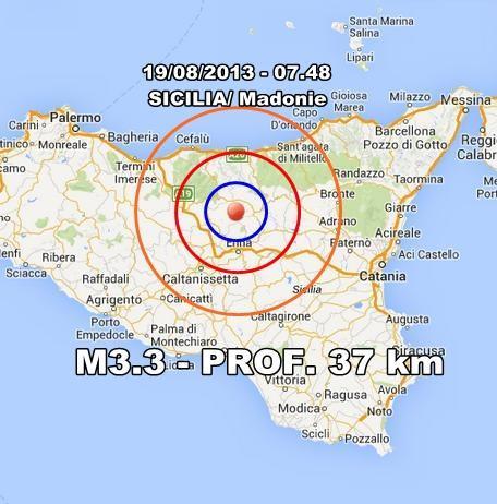 INGV Terremoto Oggi : Monitoraggio 19 Agosto 2013