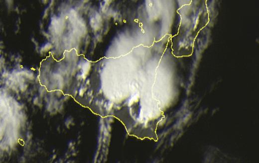 Sicilia : Forti temporali in atto