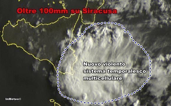 Alluvione Siracusa : Nuovi violenti temporali oggi