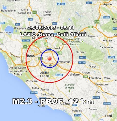 INGV Terremoto Oggi : Monitoraggio 25 Agosto