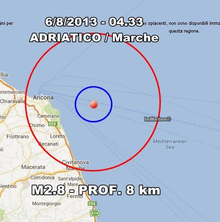 INGV Terremoto Oggi : Monitoraggio 6 Agosto 2013
