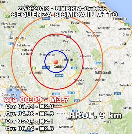INGV Terremoto Oggi : Scosse in tempo reale 27 Agosto 2013