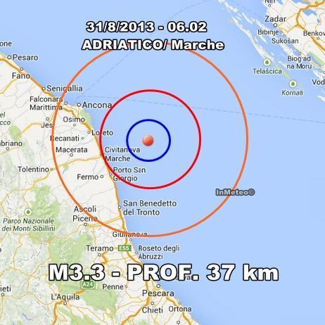 Terremoto Marche Oggi : Moderata scossa in mattinata