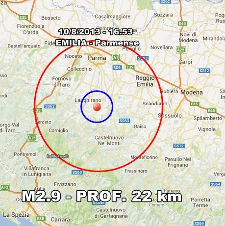 Terremoto Emilia : Scossa avvertita sull'Appennino