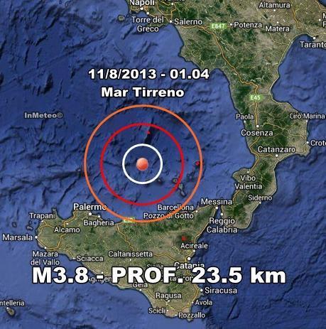 INGV Terremoto Oggi : Monitoraggio 11 Agosto 2013