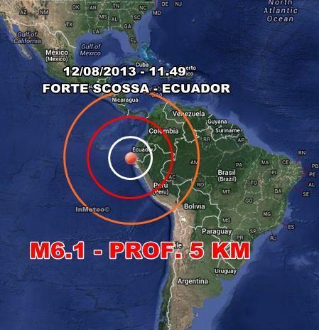 Forte terremoto colpisce l'Ecuador