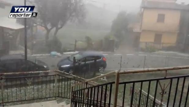 Veneto : Tempesta di grandine e vento nel rodigino