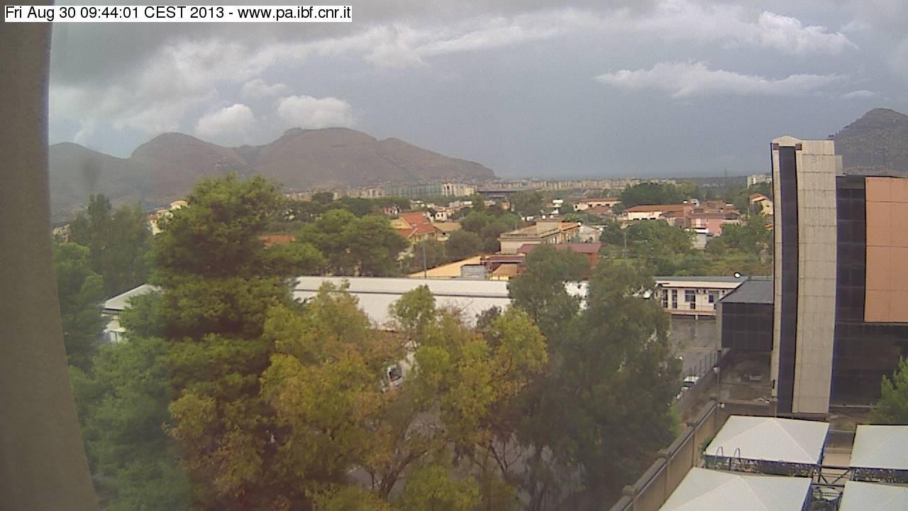 Webcam Palermo: cielo visibilmente minaccioso con temporale in atto