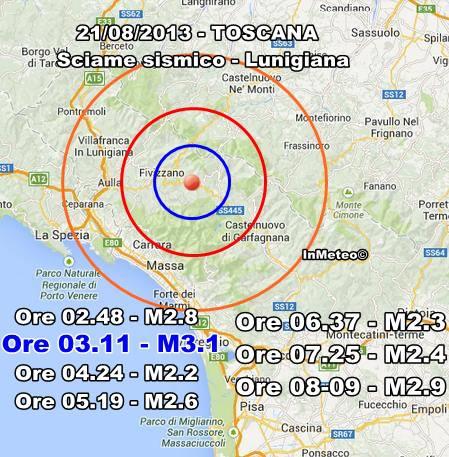 Terremoto Fivizzano-Toscana oggi - 10 Agosto 2013