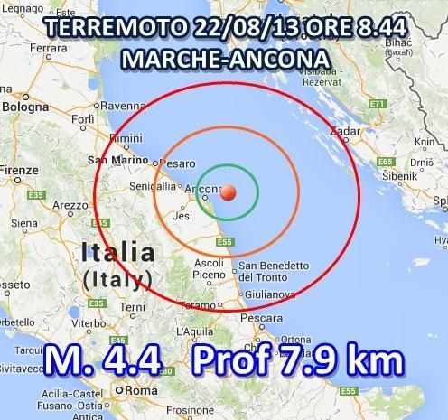 Ingv Terremoto oggi nelle Marche