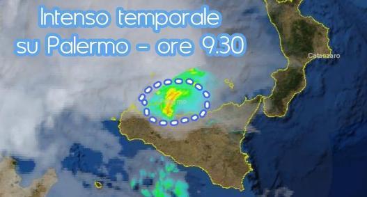 Intenso temporale nella zona di Palermo - 30 Agosto 2013