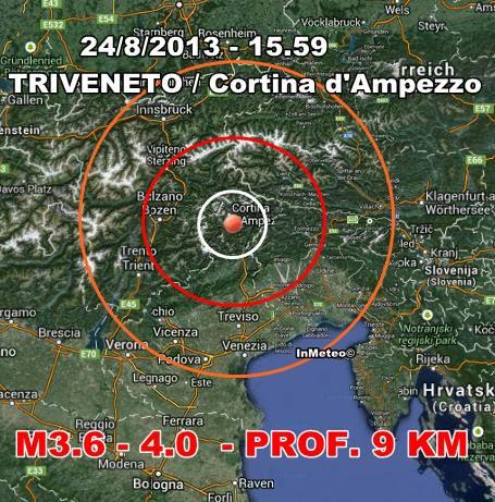 Terremoto oggi Friuli