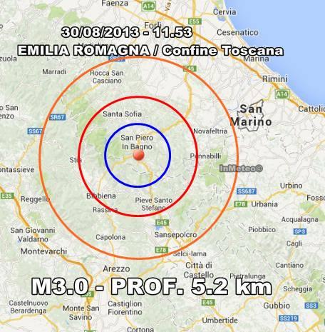 Terremoto emilia romagna oggi 30 agosto 2013 scossa a san - Previsioni bagno di romagna ...