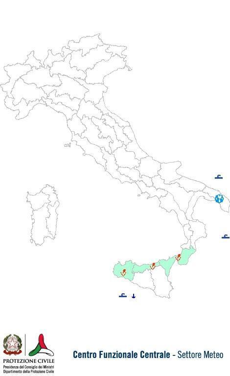 Previsioni meteo 3 Settembre 2013 Italia: Bollettino della Protezione Civile. Fonte: www.protezionecivile.gov.it