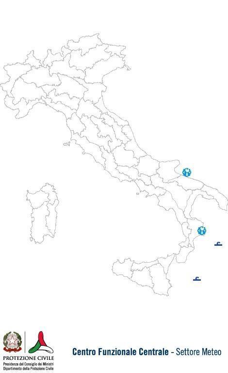 Previsioni meteo 4 Settembre 2013 Italia: Bollettino della Protezione Civile. Fonte: www.protezionecivile.gov.it
