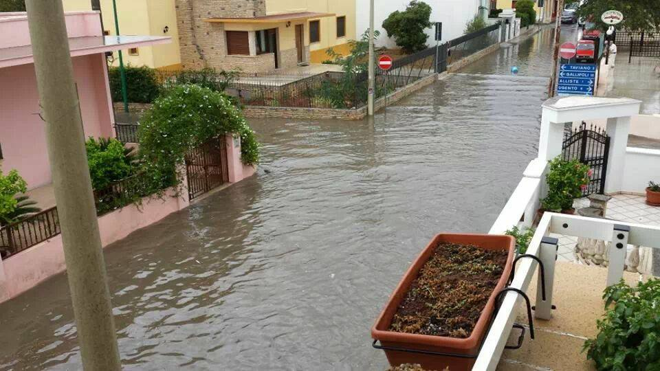 Allagamenti a Racale (Lecce) - Fonte RACALEcam