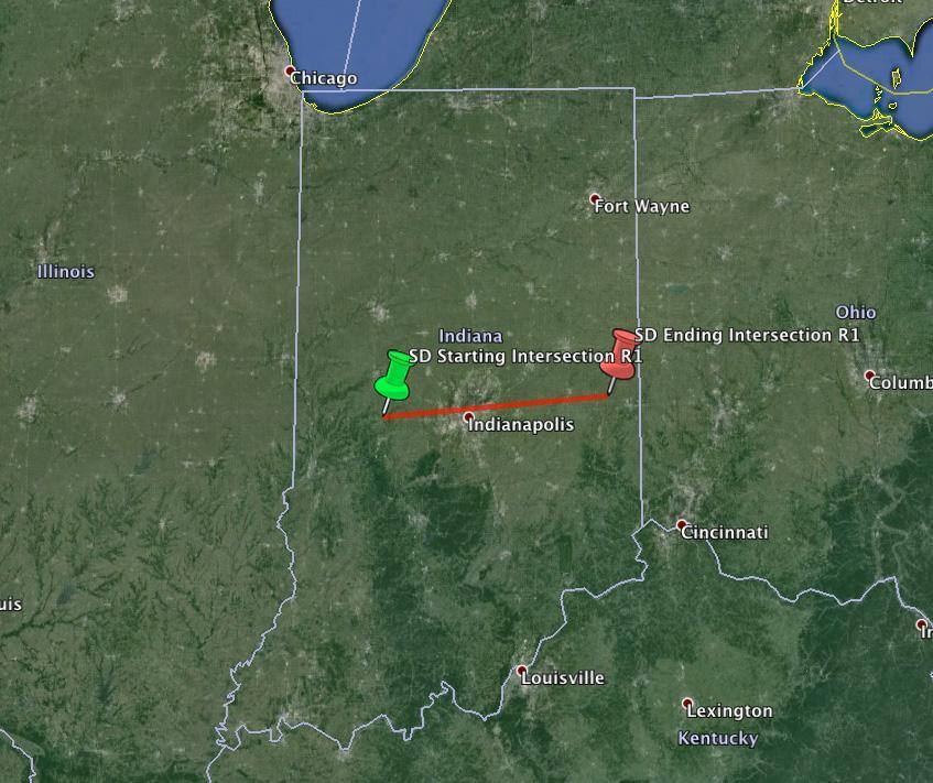 Traiettoria palla di fuoco avvistata a Midwest - Stati Uniti.