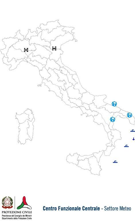 Previsioni meteo 23 Settembre 2013 Italia: Bollettino della Protezione Civile. Fonte: www.protezionecivile.gov.it