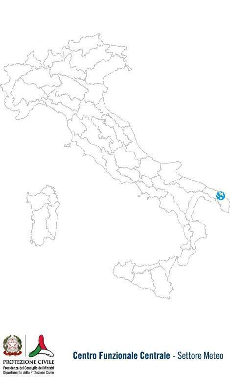 Previsioni meteo 24 Settembre 2013 Italia: Bollettino della Protezione Civile. Fonte: www.protezionecivile.gov.it