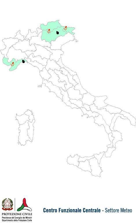 Previsioni meteo 26 Settembre 2013 Italia: Bollettino della Protezione Civile. Fonte: www.protezionecivile.gov.it
