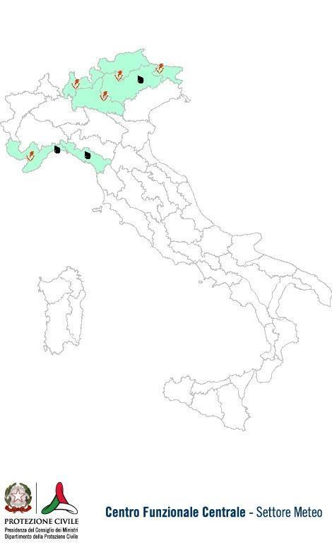 Previsioni meteo 27 Settembre 2013 Italia: Bollettino della Protezione Civile. Fonte: www.protezionecivile.gov.it