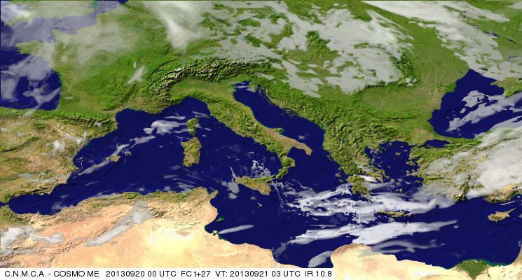 Previsioni Meteo Aeronautica Militare Sabato 21 Settembre 2013. Fonte: meteoam.itder