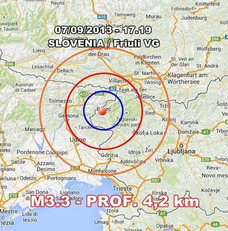 Terremoto Friuli Venezia Giulia : scossa ben avvertita nell'udinese