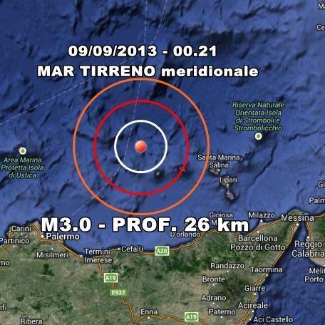 INGV Terremoto Oggi : Monitoraggio 9 Settembre 2013