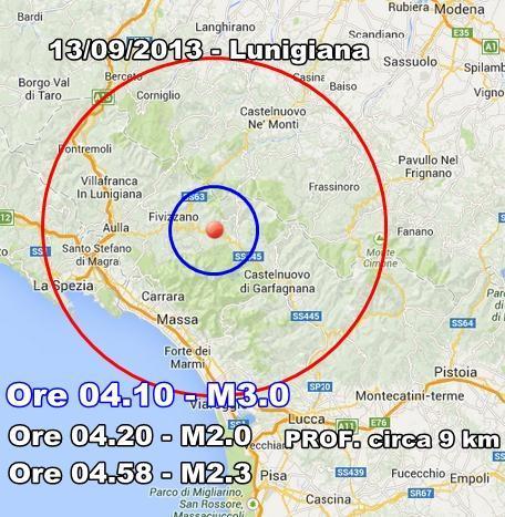 INGV Terremoto Oggi : monitoraggio sismico 13 Settembre 2013