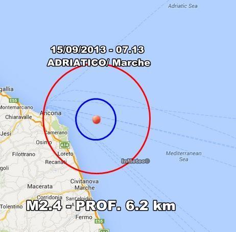INGV Terremoto Oggi : monitoraggio 15 Settembre 2013