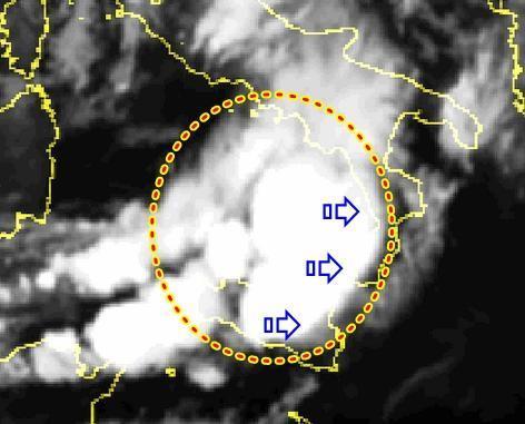 Sicilia : violento temporale sta attraversando l'Isola