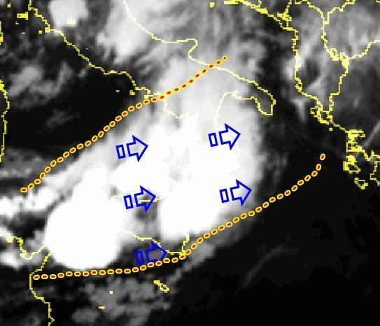 Maltempo : temporali estesi sul Sud Italia