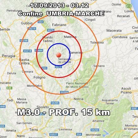 INGV Terremoto Oggi : monitoraggio 17 Settembre 2013